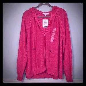 Pink hoodie cardigan plus size XXL / 1xl